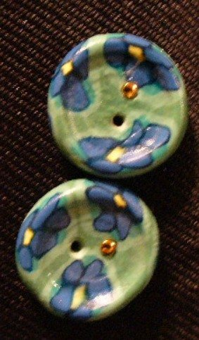 Button Set # 15 Polymer Clay Button Set of 2 - handmade from Polymer Clay by Treasure Vallie
