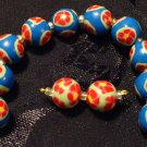 Set of 12 Beads # 7- Handmade from Polymer Clay by Treasure Vallie