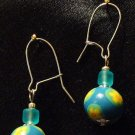 Sterling Silver Earrings # 3- Polymer Clay Beads handmade by Treasure Vallie