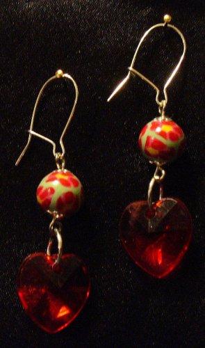 Sterling Silver Earrings # 8- Polymer Clay Beads handmade by Treasure Vallie