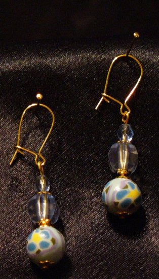 Earrings # 13- Polymer Clay Beads handmade by Treasure Vallie