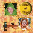 Halloween Digital Scrapbooking Kit 11x8.5