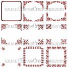 Fancy Red Digital Frames Set 1 for Scrap Booking