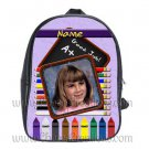Personalized Purple Crayon Pencil Backpack Large