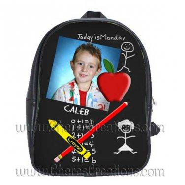 Personalized Chalkboard School Backpack Large