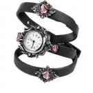 Watch with Crystal Hearts Watch Heart Bracelet Gothic Victorian Time Piece