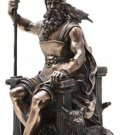 Odin and WOLF Statue Norse God of War and Death Odin Alfadir, Allfather