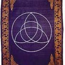 Celtic Knot Tapestry Triquetra Bed Spread Altar Cloth Wall Hanging Wicca Charmed