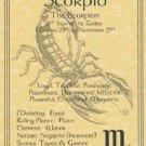Scorpio  Zodiac Poster Parchment Horoscope Poster Scorpio  Parchment  Page