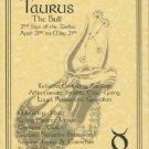 Taurus Zodiac Poster Parchment Horoscope Poster Taurus Parchment  Page
