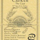 Cancer Zodiac Poster Parchment Horoscope Poster CancerParchment Poster