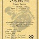 Aquarius Zodiac Poster Parchment Horoscope Poster Aquarius Parchment Poster