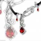Passion Red Thorn Necklace Gothic Jewelry Wicca Celtic
