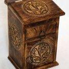 Tree of Life Herb Cupboard Celtic Altar Box Jewelry Box Trinket Box Wicca Pagan