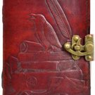 Raven Leather Journal Blank Leather Journal Mystic Raven Book of Shadows Wicca