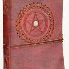 Diary Blank Journal Pentagram Leather Blank Book of Shadows  Latching BOS Wicca