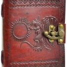 Dragon Blank Leather Journal Diary Book of Shadows  Engraved Draconic Wicca
