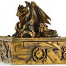 Dragon Trinket Box Steampunk Dragon Jewelry Box Dragon Mythical Magic Dragon