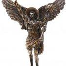 "Archangel St. Uriel 12 3/4"" Bronze Guardian Angel  Archangel"