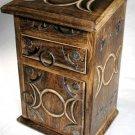 Triple Moon Herb Cupboard Altar Box Triple Goddess Trinket Box Wicca Pagan