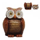 Hoot OWL COOKIE Jar OLD FASHION Ceramic Candy Jar Who Gives A Hoot Owl