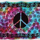 Tapestry Tie Dye PEACE Sign Wall Hanging Table Cloth Hippie Peace Sign Sarong