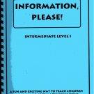 Information Please! Intermediate Level 1 RESEARCH SKILL