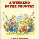 A Weekend in the Country LEE LORENZ hcdj 1985 1st pr