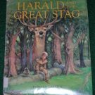 Harald and the Great Stag 1988 hcdj MIDDLE AGES hunting