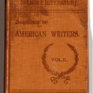 Sketches of American Writers 1895 THOREAU Poe WHITIER