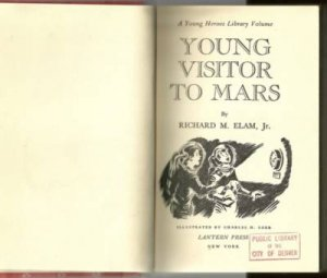 Young Visitor to Mars RICHARD ELAM 1953 science fiction
