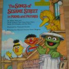 The Songs of Sesame Street POEMS & PICTURES Muppets 1st