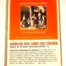 AMERICAN FOLK SONGS FOR CHILDREN - CASSETTE SEEGER