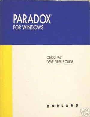 PARADOX FOR WINDOWS DEVELOPER&#039;S GUIDE BOOK