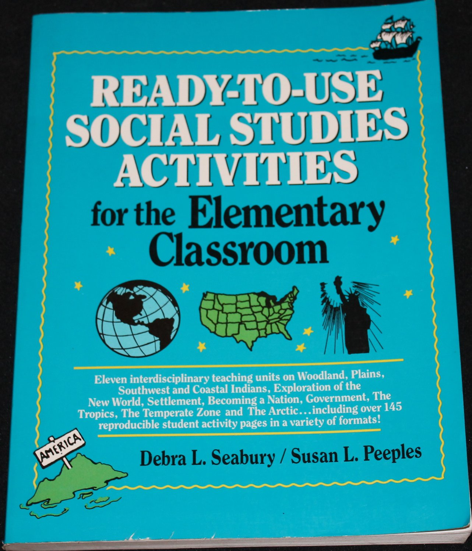 READY-TO-USE SOCIAL STUDIES ACTIVITIES BOOK grades 3-8 book educator education teacher book