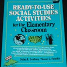 READY-TO-USE SOCIAL STUDIES ACTIVITIES BOOK grades 3-8 book educator education teacher book