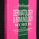 Stedman's Dermatology & Immunology Words rheumatology allergy transplantation medical book