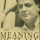 Richard Feynman The Meaning of It All Thoughts of a citizen-scientist scientific paperback book