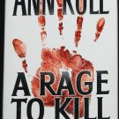 Ann Rule book A Rage to Kill and Other True Crime Cases hardcover book