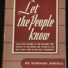 1943 vintage book - Let the People Know - vintage hardcover book 1943 by Norman Angell