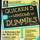 Quicken 5 For Dummies book - computer program book
