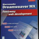 Dreamweaver MX book - fast & easy web computer internet development softcover book