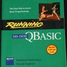Running MS-DOS QBASIC q basic - computer technology instruction program book
