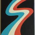NEW Abstract Minimalist Zip Painting teal blue orange red white black minimalism art painting