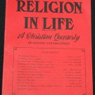 1966 RELIGION IN LIFE Christian Quarterly Christianity God theology Jesus Gospel church issues book