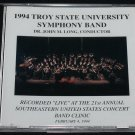 NEW sealed Symphony Band CD Troy State University 1994 music Recorded Live