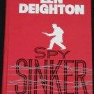 Spy Sinker - espionage spy novel - adventure thriller hardcover book by Deighton