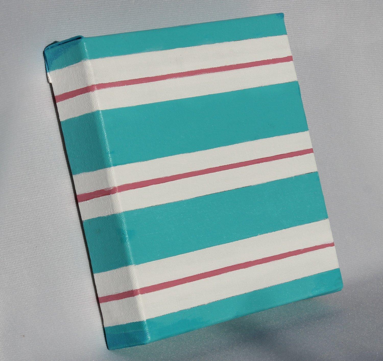 Teal Pink Minimalist Decor Painting minimalism art home accent painting interior decor art stripes