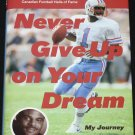 Never Give Up On Your Dream - Warren Moon football player sports biography book by Don Yaegar