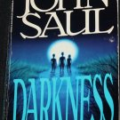 Darkness - horror novel - scary book terror novel story by John Saul - paperback fiction book
